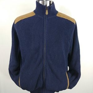 Orvis Full Zip Up Heavy Sweater Coat Mens Size M